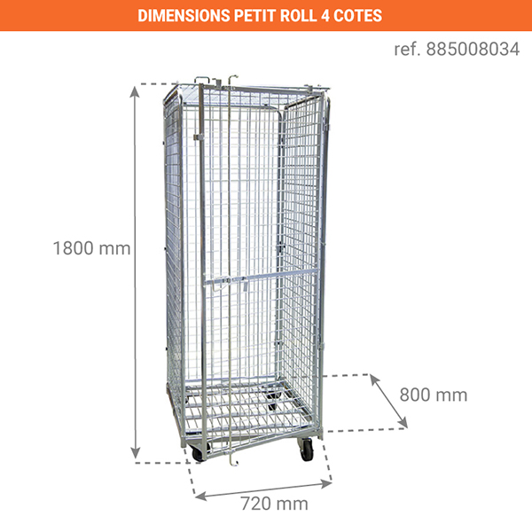 dimensions chariot 885008034