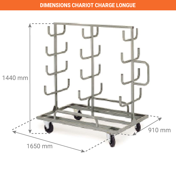 dimensions chariot A15006