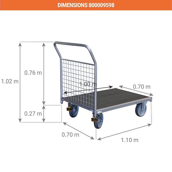 dimensions chariot manutention 800009598