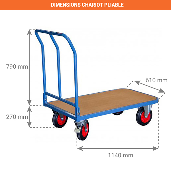 dimensions chariot pliable 800000042