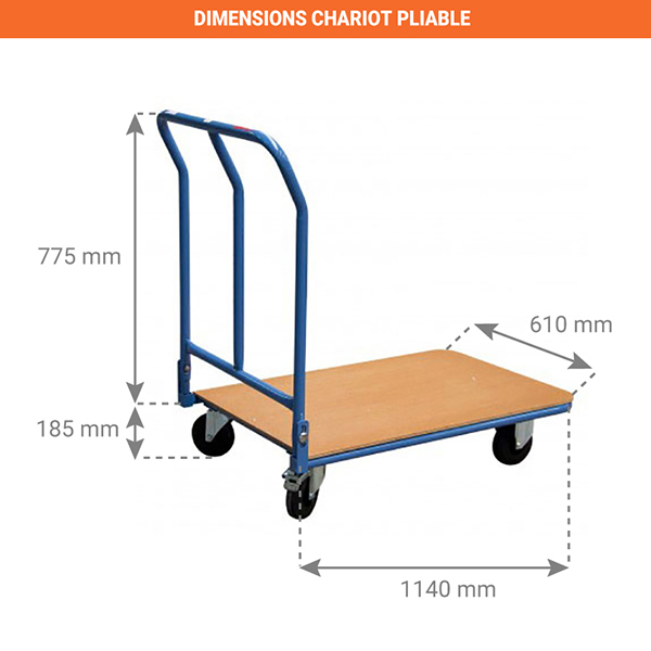 dimensions chariot pliable 800006892