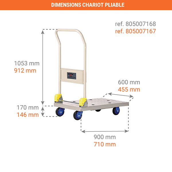 dimensions chariot pliable 805007167