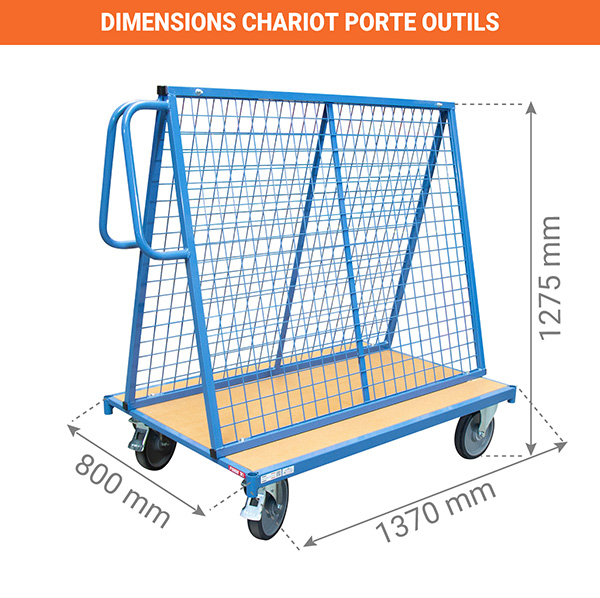 dimensions chariot porte outils