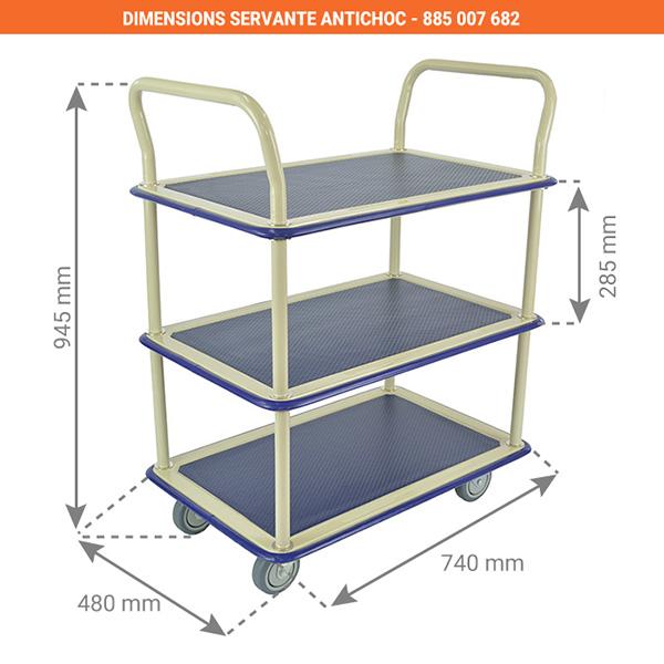dimensions servante antichoc 885007682