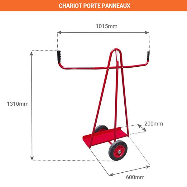 schema chariot porte bacs 800000071