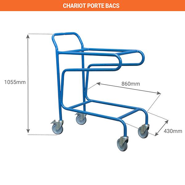 schema chariot porte bacs 880006618