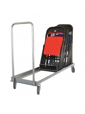 Chariot porte chaise pliante
