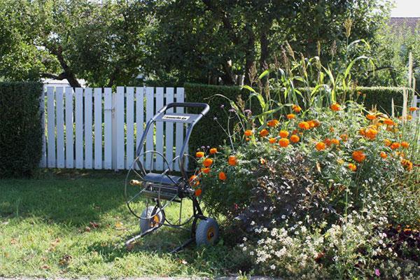devidoir deux roues jardin