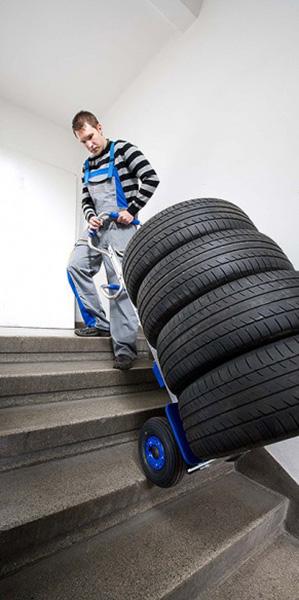 diable electrique pneu
