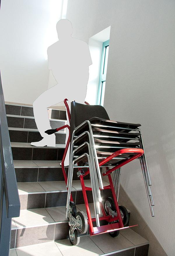 Diable porte chaise pour escalier