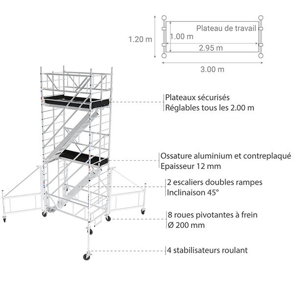 details tour escalier aluminium TER