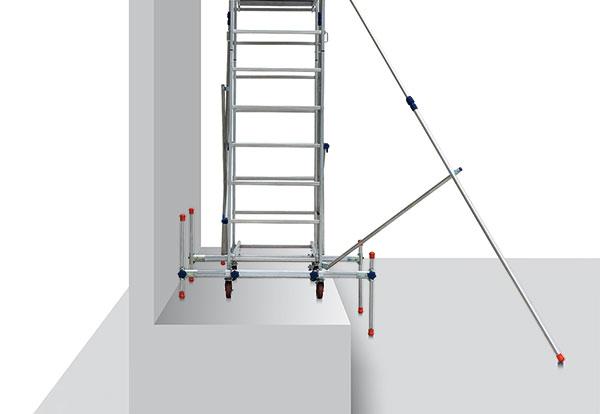 echafaudage ALTO avec barres stabilisatrices
