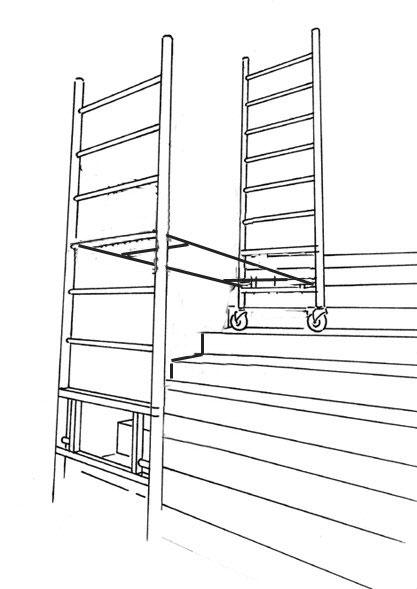 echafaudage escaliers