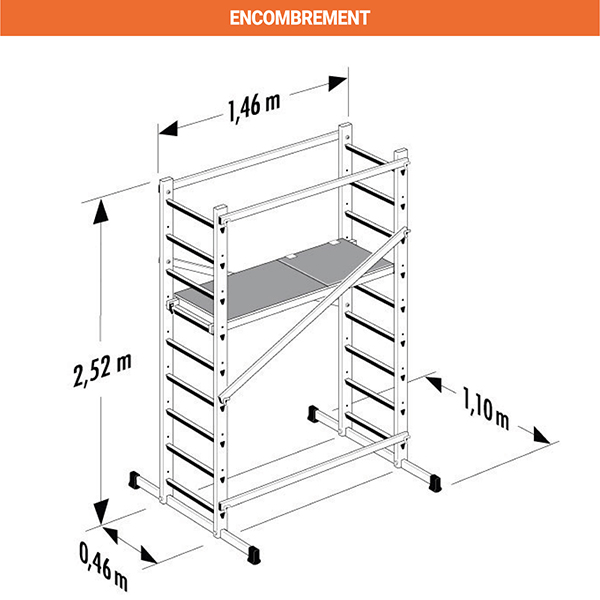 echafaudage domestique dimensions