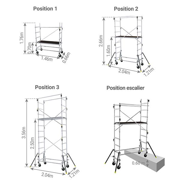 echafaudage escalier 347703