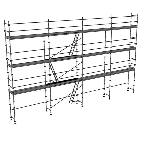 echafaudage fixe 104m planchers plinthes