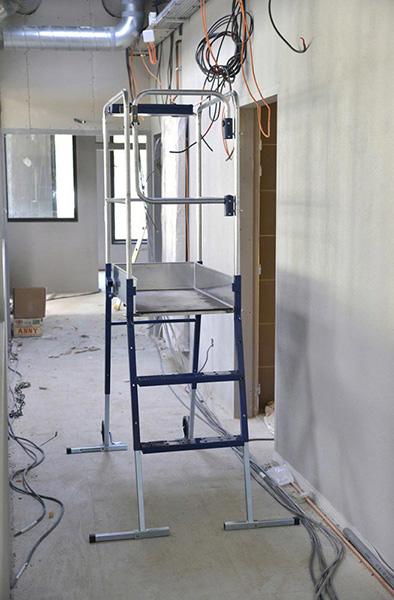 echafaudage gazelle sur chantier