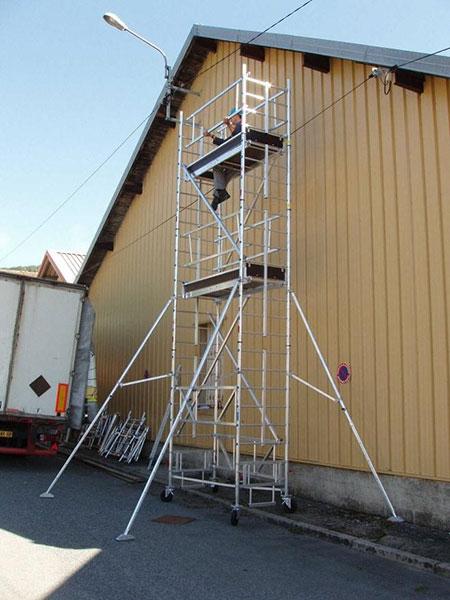 echafaudage roulant IPS chantier