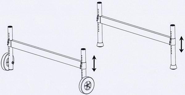 echafaudage pour escalier avec embase a pieds reglables. Black Bedroom Furniture Sets. Home Design Ideas