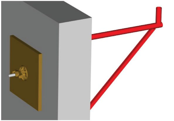 fixation de la console de façade