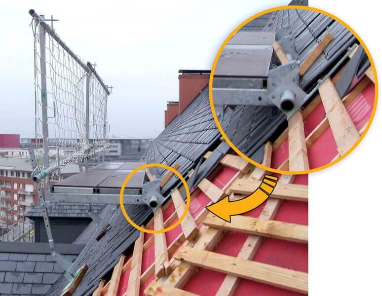 Système de fixation de l'échafaudage de versant