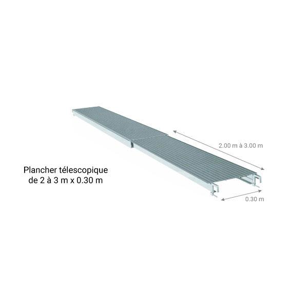 Plateau d'échafaudage télescopique 30cm