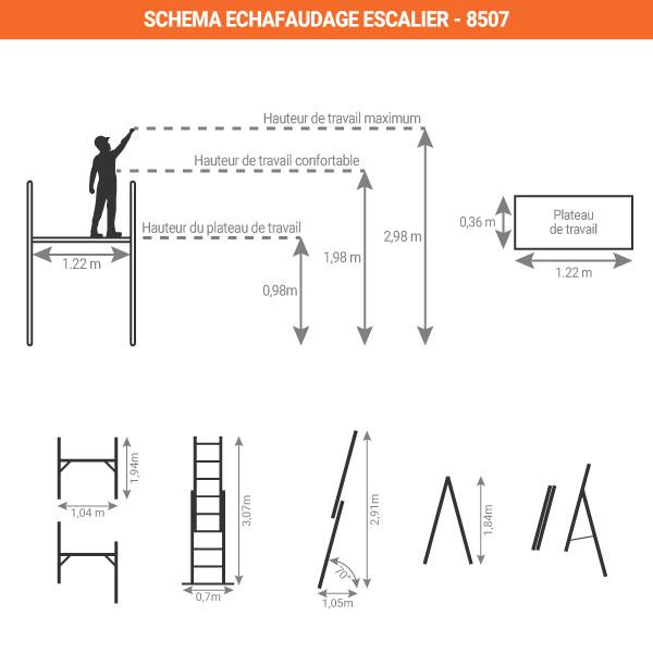 schema echafaudage escalier 8507