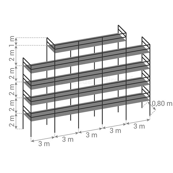 schema echafaudage fixe 180m2