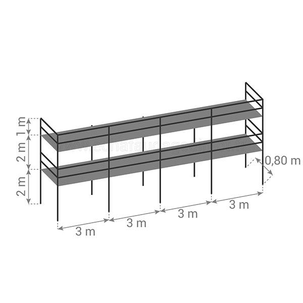 schema echafaudage fixe 78m2