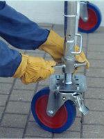 roues d'échafaudage acier