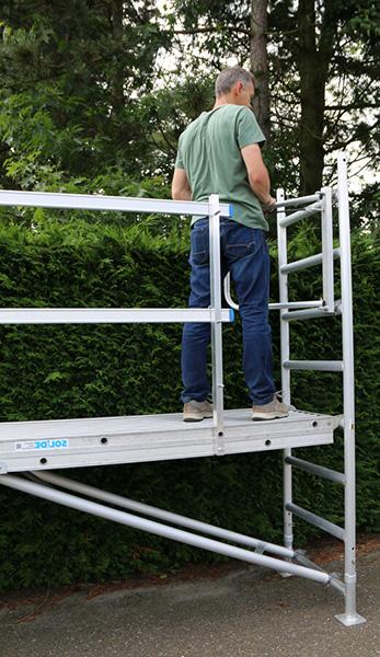travail sur echafaudage jardin ts 420