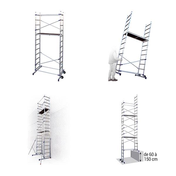 utilisation echafaudage escalier PNCLA