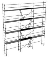 schema de l'échafaudage fixe 100m2