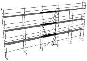 schema de l'échafaudage fixe
