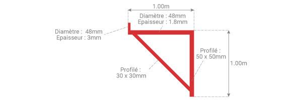 schema console echafaudage epoxy 1m