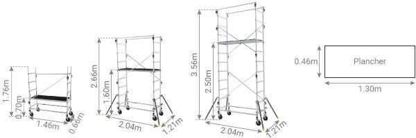 schema echafaudage escalier 347703