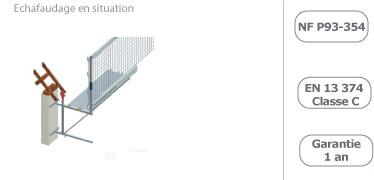 schema du bloqueur de l'echafaudage suspendu