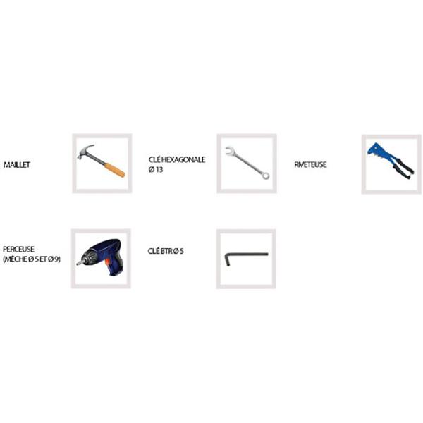 outil pour échelle crinoline