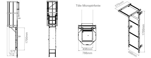 schema de l'echelle crinoline avec porte