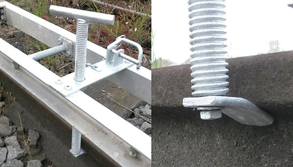 Système anti-basculement réglable pour échelle Lorry