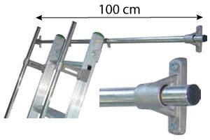 barre accrochage echelle 100cm