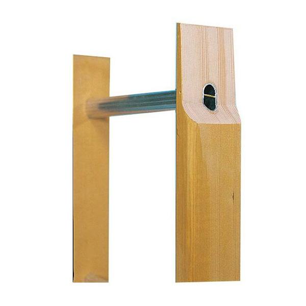 barreau de l'echelle bois