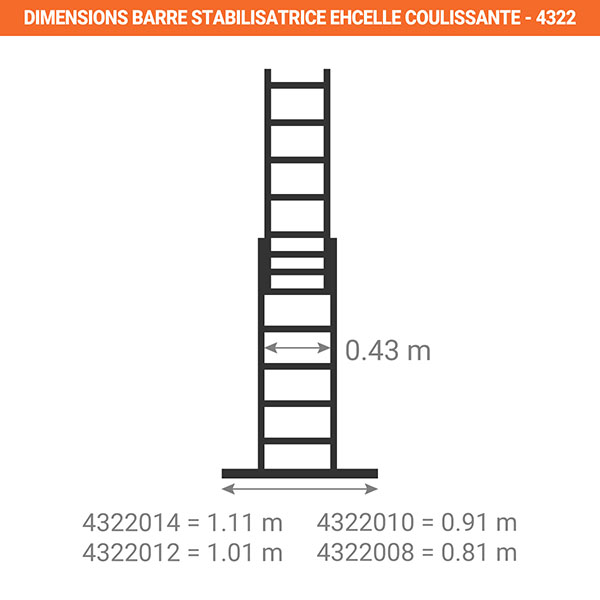dimensions barre stabilisatrice echelle coulissante 4322