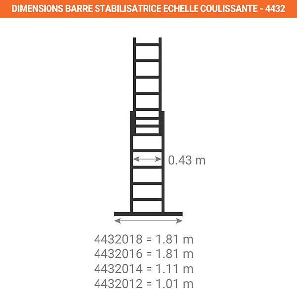 dimensions barre stabilisatrice echelle coulissante 4432
