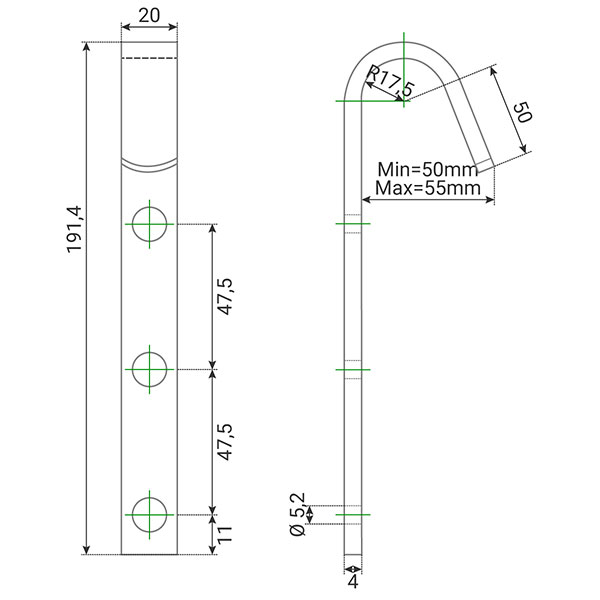 dimensions crochet echelle cro2bois