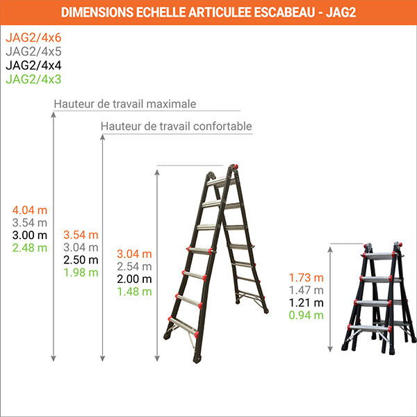 dimensions echelle articulee escabeau jag2