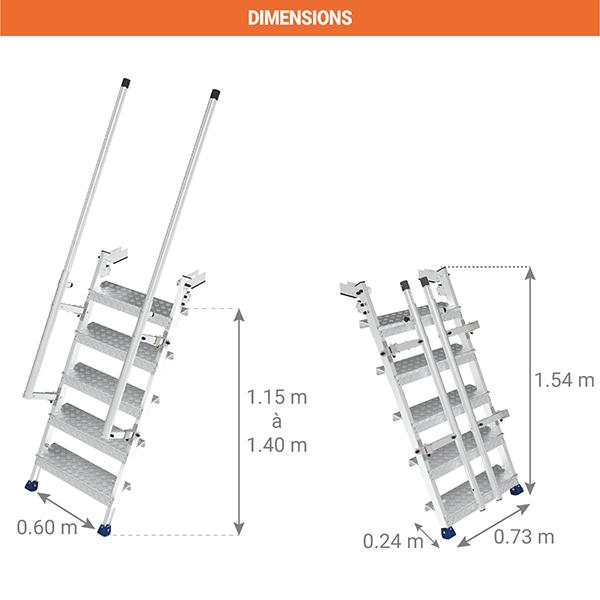 dimensions echelle camion EAC