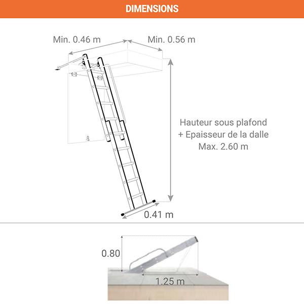 dimensions echelle escamotable 9343