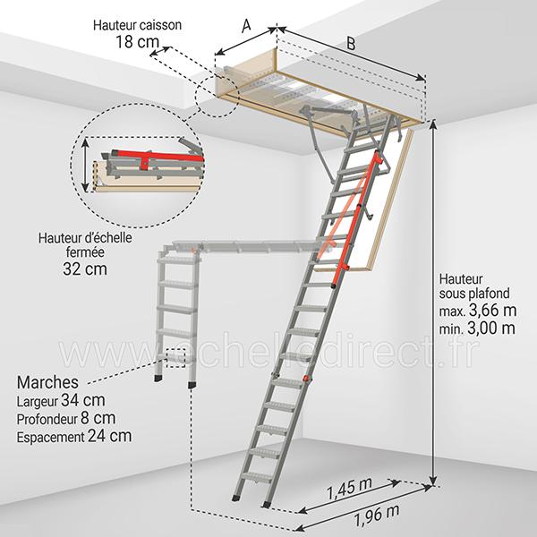 dimensions echelle escamotable LMP 366