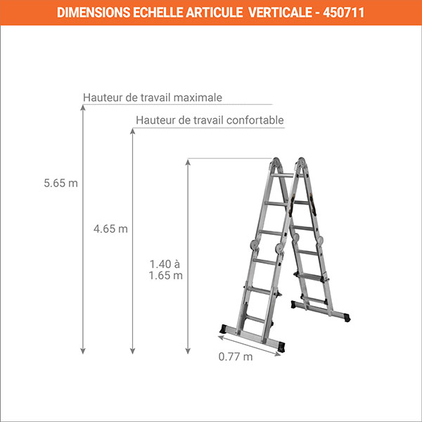 dimensions echelle solucio verticale 450711